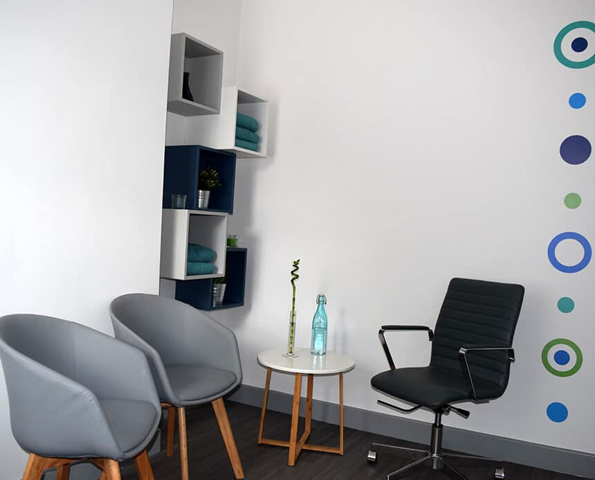 A therapy room at Health Space 307